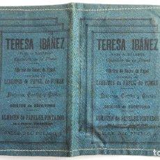 Documentos antiguos: PEQUEÑA CARTERA, PUBLICIDAD TERESA IBAÑEZ, ALMACEN PAPELES PINTADOS, CASTELLON DE LA PLANA. Lote 173200604