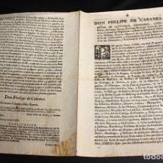 Documentos antiguos: REAL PRAGMATICA TENIENTE GENERAL DE LOS REALES EJERCITOS SOBRE RECURSO DE SEGUNDA SUPLICACION. 1774. Lote 173206708