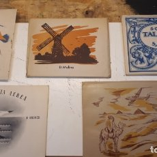 Documentos antiguos: SOBRES CARTAS, CINCO MODELOS DISTINTOS.. Lote 173413100