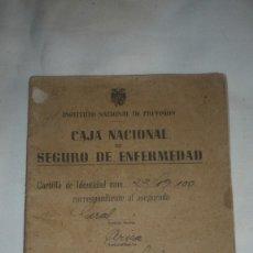 Documentos antiguos: CAJA NACIONAL SEGURO DE ENFERMEDAD. Lote 173525090