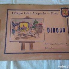 Documentos antiguos: 74-ANTIGUO BLOC DIBUJO ESCOLAR, COLEGIO LIBRE ADOPTADO DE TINEO, ASTURIAS.. Lote 173676490