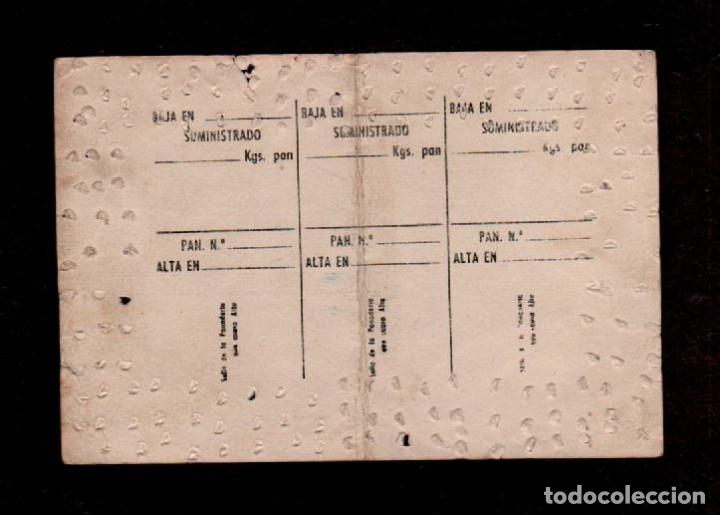 Documentos antiguos: C10-0008 PANADERIA 1951 GREMIO DE PANADEROS DE BARCELONA, TARJETA RACIONAMIENTO Totalmente usada. - Foto 2 - 173681143