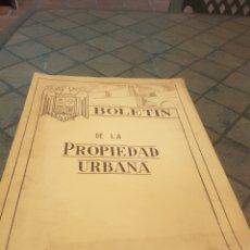 Documentos antiguos: BOLETÍN DE LA PROPIEDAD URBANA 1942 NÚMERO 1. Lote 173772675