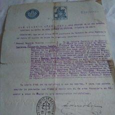 Documentos antiguos: 1-CARTA PARROQUIAL CERTIFICANDO MATRIMONIO CACERES 1925. Lote 173818203