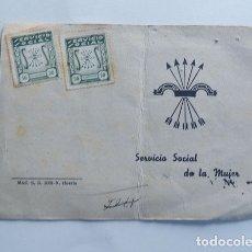 Documentos antiguos: SERVICIO SOCIAL - SECCION FEMENINA / CERTIFICADO DE CUMPLIMIENTO / AÑO 1946 / TIMBRES 50 CENTIMOS. Lote 173873213