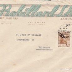 Documentos antiguos: 1952 VALENCIA SOBRE COMERCIAL PERFUMERIA ROBILLARD. Lote 174092343