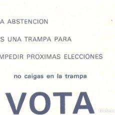 Documentos antigos: 232.- TRANSICION - REFERENDUM PROYECTO DE LEY PARA LA REFORMA POLITICA-OCTAVILLA SOCIALISTA. Lote 174137518