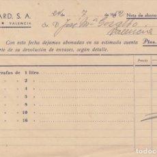 Documentos antiguos: 1952 VALENCIA RECIBO ROBILLARD. Lote 174170003