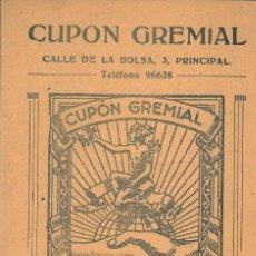 Documentos antiguos: LIBRETA CUPON GREMIAL: LLEGÓ,VIÓ Y VENCIO. CON 22 SELLO. Lote 174268712