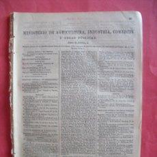 Documentos antiguos: ANUARIO DEL COMERCIO.-MINISTERIOS.-AGRICULTURA.-GOBERNACION.-JUSTICIA.-GUERRA.-HACIENDA.-MARINA.1905. Lote 174408408