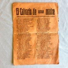 Documentos antiguos: PUBLICACION REPÚBLICA ESPAÑOLA. EL CALVARIO DE UNA MADRE. Lote 174452110
