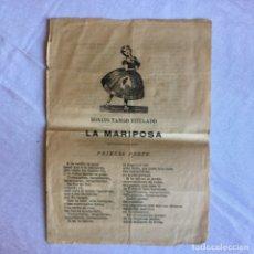 Documenti antichi: PUBLICACIÓN REPÚBLICA ESPAÑOLA.BREVES HISTORIAS Y LETRAS DE CANCIONES DE LA ÉPOCA 1929. Lote 174458017