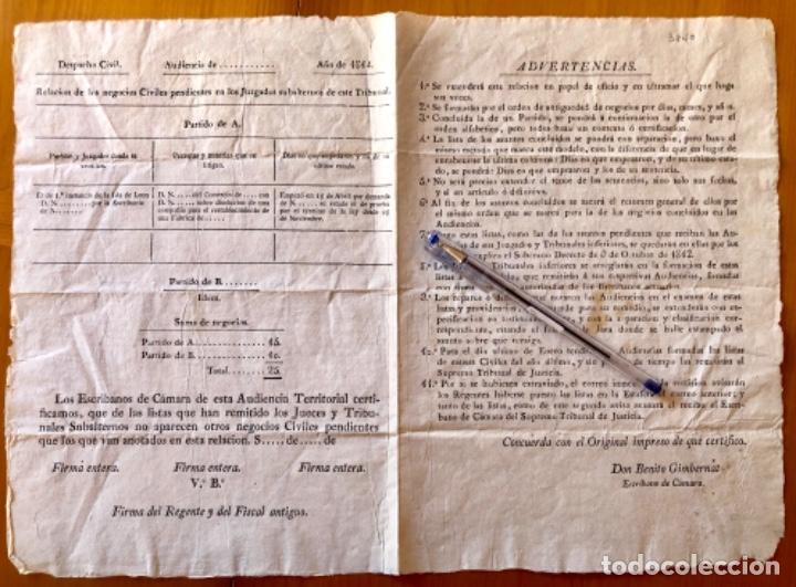 JUDICIAL- CIRCULAR REINADO FERNANDO VII- BENITO GIMBERNAT- ESCRIBANO DE CAMARA- 1.814 (Coleccionismo - Documentos - Otros documentos)