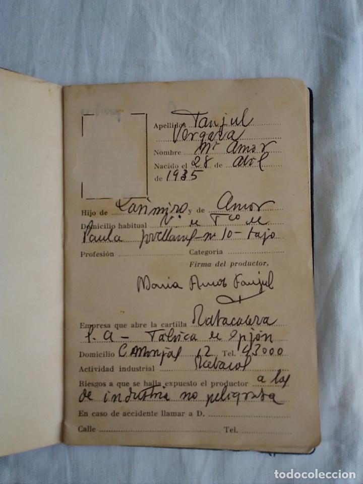 Documentos antiguos: 9-ANTIGUA CARTILLA SANITARIA DE TABACALERA, GIJON, sin fecha - Foto 4 - 174951328