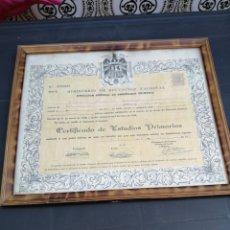 Documentos antiguos: CERTIFICADO DE ESTUDIOS PRIMARIOS AÑO 1958. Lote 174963522