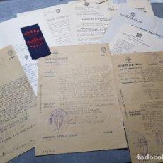Documentos antiguos: LOTE DOCUMENTOS SINDICALES DE FALANGE AÑOS 40 ALGUNO MUY INTERESANTE. Lote 175065365