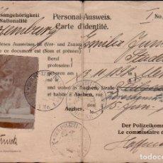 Documentos antiguos: C16-10-53 ALEMANIA PERSONAL AUSWEIS ANTIGUA CEDULA DE IDENTIDAD DE UNA ESTUDIANTE DE LUXEMBURGO E. Lote 175251362