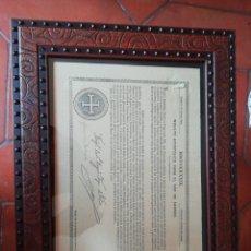 Documentos antiguos: INDULTO APOSTÓLICO PARA EL USO DE CARNES. Lote 175414319