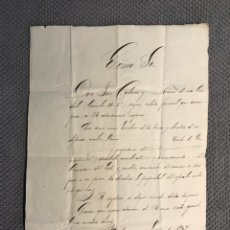 Documentos antiguos: BARCELONA. DOCUMENTO. RECLAMACIÓN DE PROPIEDAD DE UN NICHO PANTEÓN DEL CEMENTERIO (A.1907). Lote 175602035