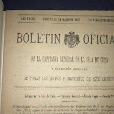Documentos antiguos: LA HABANA 1897. REGLAMENTO PERDIDAS MATERIAL Y GANADOS MILITAR.. Lote 175615585