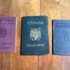 Documentos antiguos: PASAPORTE Y TITULO BENIFICIARIO FAMILIA NUMEROSA. Lote 175624223