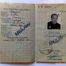 Documentos antiguos: PASAPORTE ESPAÑOL DE UN RELIGIOSO (COMPL.32 PAG.) EXPEDIDO 1964,VISADO CONSULADO U.S.A (DESCRIPCIÓN.. Lote 175653655
