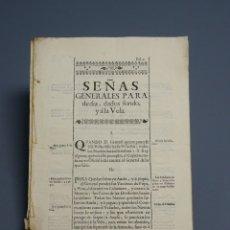 Documentos antiguos: DOCUMENTO NAVEGACION - REGLAMENTO DE SEÑAS GENERALES DE DÍA Y NOCHE PARA FAROS Y NAVÍOS - S.XVIII. Lote 175662260
