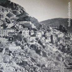 Documentos antiguos: AYNA ALBACETE VISTA ANTIGUA LAMINA HUECOGRABADO AÑOS 60. Lote 175845547