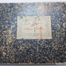 Documentos antiguos: CURIOSO LIBRO DE CUENTAS Y A LA VEZ AGENDA PERSONAL 1910. Lote 175854607