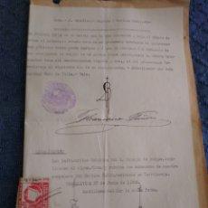 Documentos antiguos: DOCUMENTO CON SELLO NOTARIAL DEL TERRITORIO DE BURGOS. 3 PTS. Lote 175892119