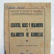 Documentos antiguos: RENFE. FERROCARRIL. ESTATUTOS, BASES Y REGLAMENTOS DE ASAMBLEAS. MADRID 1957. Lote 175954035