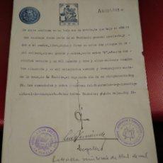 Documentos antiguos: DOCUMENTO CON SELLO NOTARIAL LA VECILLA. VALLADOLID. Lote 176054443