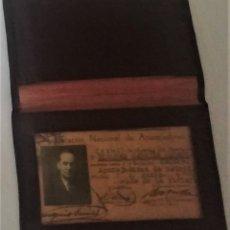 Documentos antiguos: CARNET FEDERACION NACIONAL APAREJADORES AÑO 1939 CON SU CARTERA PIEL. Lote 176054565