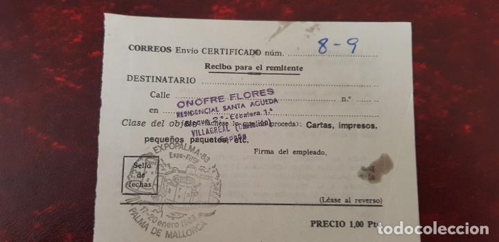 CORREOS ENVIO CERTIFICADO-PALMA DE MALLORCA (Coleccionismo - Documentos - Otros documentos)