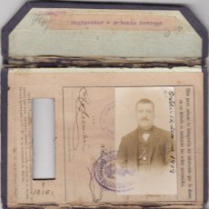 Documentos antiguos: CONJUNTO DE VARIOS CARNETS DE UN OBRERO DE LA COMPAÑIA TRASATLANTICA.AÑOS 1919-1929-1938. Lote 176132542