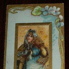Documentos antiguos: CASSINO SANFELIUENCH, PROGRAMA TROQUELADO FESTA MAJOR 1904, IMP. EN MOLINS DE REY, MIDE 9 X 5 CMS.. Lote 176175005