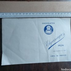 Documentos antiguos: EL GORRIAGA CHOCOLATES IRÚN. LISTA DE PRECIOS 1939. Lote 176251927