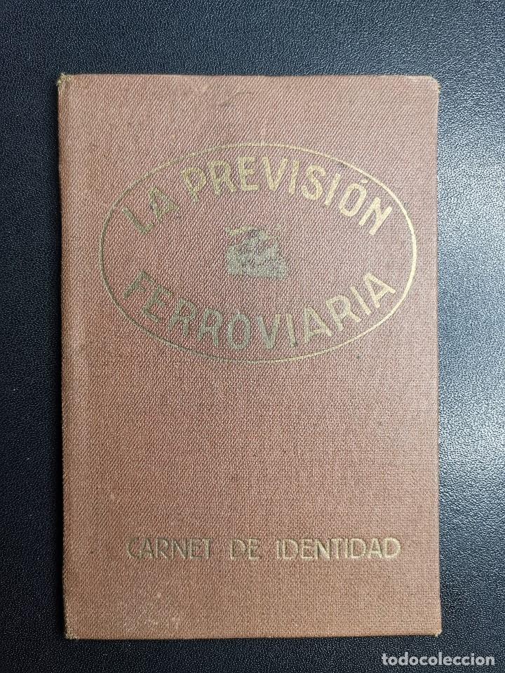 Documentos antiguos: Carnet de identidad. La Previsión Ferroviaria. 1929 barcelona. CARTILLA COMPAÑIA M.D.A -RENFE - Foto 2 - 176352093