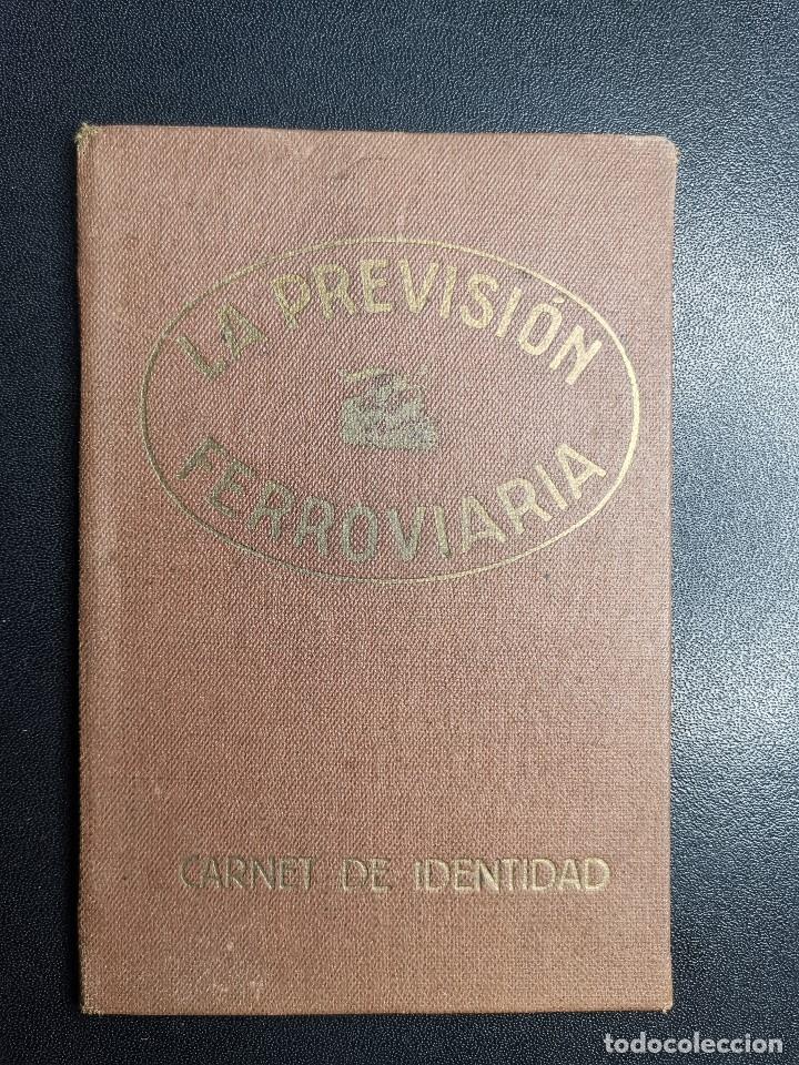Documentos antiguos: Carnet de identidad. La Previsión Ferroviaria. 1929 barcelona. CARTILLA COMPAÑIA M.D.A -RENFE - Foto 3 - 176352093