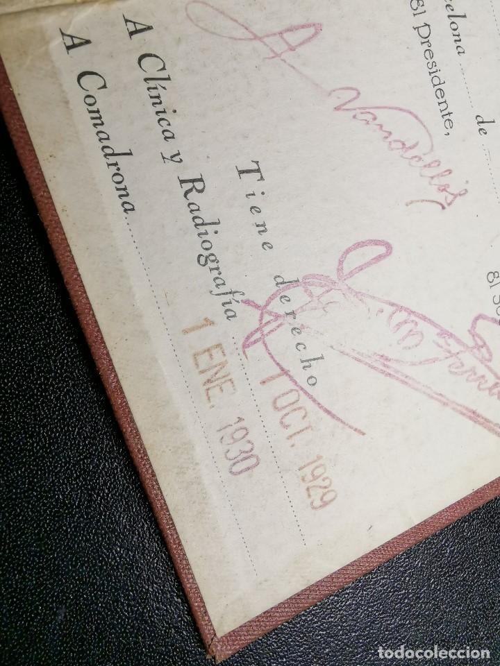 Documentos antiguos: Carnet de identidad. La Previsión Ferroviaria. 1929 barcelona. CARTILLA COMPAÑIA M.D.A -RENFE - Foto 5 - 176352093