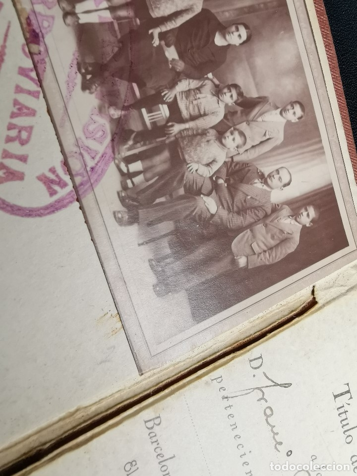 Documentos antiguos: Carnet de identidad. La Previsión Ferroviaria. 1929 barcelona. CARTILLA COMPAÑIA M.D.A -RENFE - Foto 6 - 176352093