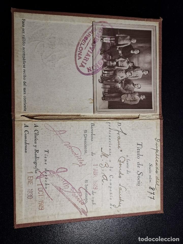 Documentos antiguos: Carnet de identidad. La Previsión Ferroviaria. 1929 barcelona. CARTILLA COMPAÑIA M.D.A -RENFE - Foto 7 - 176352093