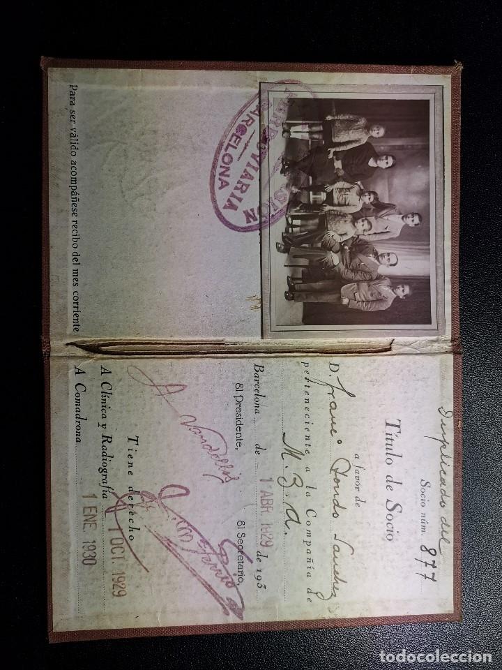 Documentos antiguos: Carnet de identidad. La Previsión Ferroviaria. 1929 barcelona. CARTILLA COMPAÑIA M.D.A -RENFE - Foto 8 - 176352093
