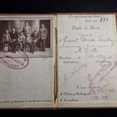 Documentos antiguos: CARNET DE IDENTIDAD. LA PREVISIÓN FERROVIARIA. 1929 BARCELONA. CARTILLA COMPAÑIA M.D.A -RENFE. Lote 176352093