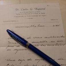 Documentos antiguos: DR CARLOS REGUEROL RIBADEO LUGO RECETA. Lote 176593242