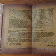Documentos antiguos: BULA DE INDULGENCIAS DEL AÑO 1455, IMPRESA POR GUTENBERG, EDICIÓN FACSÍMIL. Lote 176754894