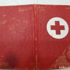 Documentos antiguos: INTERESANTE CARNET SOCIO CRUZ ROJA 1950 SELLADO EN BERGA Y ESTATUTOS. Lote 176840652