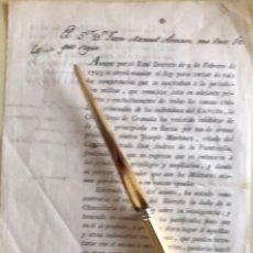Documentos antiguos: BAEZA- JAEN- JURIDISCCION MILITAR- CONDE ARMILDEZ DE TOLEDO- 1.798. Lote 177187024