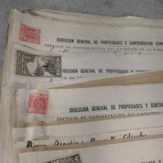 Documentos antiguos: LOTE X 44 DOCUMENTOS CATASTRALES BURGUILLOS AÑOS 1930'. Lote 177277094