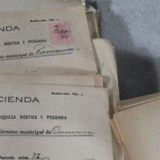 Documentos antiguos: LOTE MÁS 200 DOCUMENTOS CATASTRALES CARMONA AÑOS 1920'. Lote 177277848